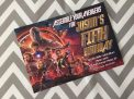 Avengers Infinity War Birthday Invitation